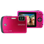 GE G3WP Digital Camera, Raspberry Red