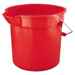 Rubbermaid 14 Quart Round Double Utility Pail, Red