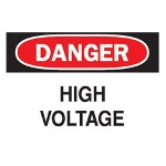 "Brady 7"" x 10"" Danger High Voltage Safety Sign (sticker)"