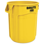 Rubbermaid Round Brute Container, Plastic, 20 gal, Yellow
