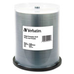 Verbatim 100 x CD-R - 700 MB (80min) 52X - White - Ink Jet Printable Surface, Printable Inner Hub - Spindle - Storage Media