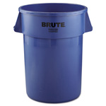 Rubbermaid Round Plastic Outdoor Trash Can, 44 Gallon, Blue