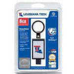 Centon DataStick Keychain Collegiate Louisiana Tech University Edition Bulldogs - USB Flash Drive - 8 GB