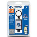 Centon DataStick Keychain Collegiate Boise State University Edition Broncos - USB Flash Drive - 4 GB