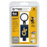 Centon DataStick Keychain Collegiate Georgia Tech University Edition Yellow Jackets - USB Flash Drive - 4 GB
