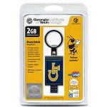 Centon DataStick Keychain Collegiate Georgia Tech University Edition Yellow Jackets - USB Flash Drive - 2 GB