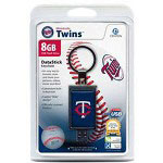 Centon DataStick Keychain MLB Minnesota Twins Edition - USB Flash Drive - 8 GB