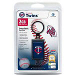 Centon DataStick Keychain MLB Minnesota Twins Edition - USB Flash Drive - 2 GB