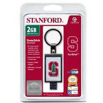 Centon DataStick Keychain Collegiate Stanford University Edition Cardinal - USB Flash Drive - 2 GB