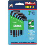 Eklind Tool Company 7- Piece Torx Short Allen Wrench Set w/Holder