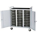 Bretford Antimicrobial Products Solutions Pre-Assembled Notebook Storage Cart LAP30EULBA-CTMBT - Cart