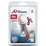 Centon DataStick MLB Swivel Atlanta Braves Edition - USB Flash Drive - 4 GB