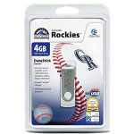Centon DataStick MLB Swivel Colorado Rockies Edition - USB Flash Drive - 4 GB