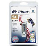 Centon DataStick MLB Swivel Milwaukee Brewers Edition - USB Flash Drive - 4 GB