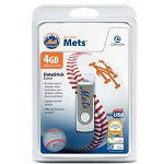 Centon DataStick MLB Swivel New York Mets Edition - USB Flash Drive - 4 GB