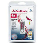 Centon DataStick MLB Swivel St. Louis Cardinals Edition - USB Flash Drive - 4 GB