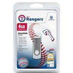 Centon DataStick MLB Swivel Texas Rangers Edition - USB Flash Drive - 4 GB