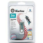 Centon DataStick MLB Swivel Florida Marlins Edition - USB Flash Drive - 2 GB