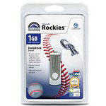 Centon DataStick MLB Swivel Colorado Rockies Edition - USB Flash Drive - 1 GB