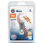 Centon DataStick MLB Swivel New York Mets Edition - USB Flash Drive - 1 GB