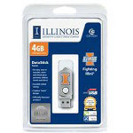 Centon DataStick Twist Collegiate University Of Illinois Urbana-Champaign Edition Illini - USB Flash Drive - 4 GB
