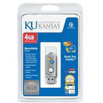 Centon DataStick Twist Collegiate University Of Kansas Edition Jayhawks - USB Flash Drive - 4 GB