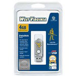 Centon DataStick Twist Collegiate University Of West Virginia Edition Mountaineers - USB Flash Drive - 4 GB