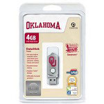 Centon DataStick Twist Collegiate University Of Oklahoma Edition Sooners - USB Flash Drive - 4 GB