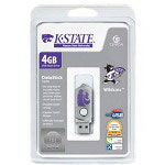 Centon DataStick Twist Collegiate Kansas State University Edition Wildcats - USB Flash Drive - 4 GB