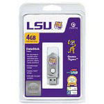 Centon DataStick Twist Collegiate Louisiana State University Edition Tigers - USB Flash Drive - 4 GB
