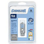 Centon DataStick Twist Collegiate University Of North Carolina Edition Tarheels - USB Flash Drive - 4 GB