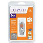 Centon DataStick Twist Collegiate Clemson University Edition Tigers - USB Flash Drive - 2 GB