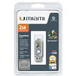 Centon DataStick Twist Collegiate University Of Miami Edition Hurricanes - USB Flash Drive - 2 GB