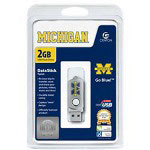 Centon DataStick Twist Collegiate University Of Michigan Edition Wolverines - USB Flash Drive - 2 GB