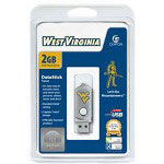 Centon DataStick Twist Collegiate University Of West Virginia Edition Mountaineers - USB Flash Drive - 2 GB