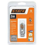 Centon DataStick Twist Collegiate Oklahoma State University Edition Cowboys - USB Flash Drive - 2 GB