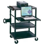 Quartet Quartet Duracart Multimedia Projector Cart With Laptop Shelf - Cart