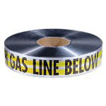 "Empire Level 2"" x 1000' Yellow Cautiongas Line Below Tape"