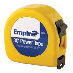"Empire Level 1"" x 30' Power Measuring Tape w/Neon Yell"