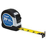 Empire Level Power Grip Tape Measures, 1 in x 25 ft, Black