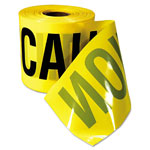 "Empire Level 3"" x 200' Caution Tape Yellow w/Black Print"