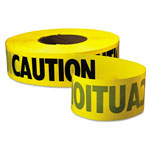 "Empire Level Caution Barricade Tape, 3"" x 1000ft, Yellow/Black, 8/CT"