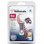 Centon DataStick MLB Swivel Washington Nationals Edition - USB Flash Drive - 8 GB