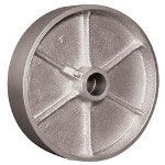 "Ez Roll 6"" x 2"" Steel Wheel 1/2"" i.d."