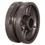 "Ez Roll 6"" x 2"" V-groove Steel Wheel 1/2"" I.d."