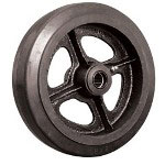 "Ez Roll 8"" x 2"" Rubber Tread Wheel Cast Iron Core Wheel"