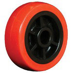 "Ez Roll 4"" x 1.25"" Polyurethane Tread Poly Core Wheel 3/"