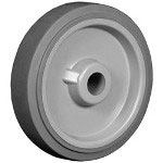 "Ez Roll 5"" x 1.25"" Excel Tread Poly Core Wheel 3/8"" I.d."