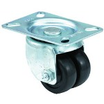 "E.R. Wagner 2-1/2"" x 13/16"" Low Profile97 Plate Swivel Caster"