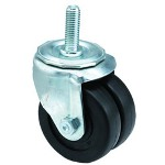 "E.R. Wagner 3x13/16"" Low Profile 10 Post Swivel Caster"